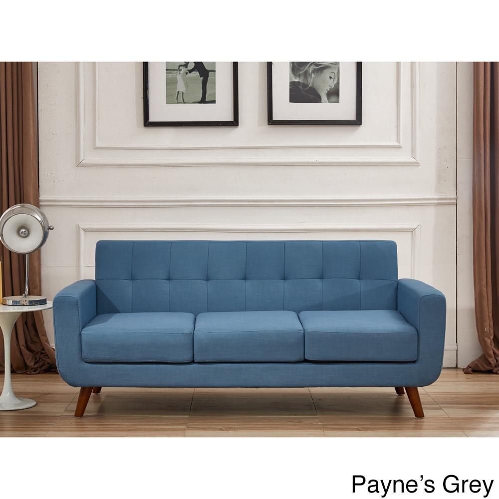 U S Pride Furniture Grace Rainbeau Linen Upholstered Tufted
