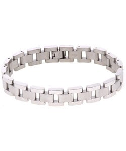 Stainless Steel Link 12 mm 8.5-inch Bracelet