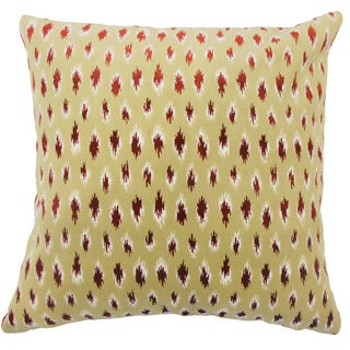 Ontibile Ikat 24-inch Feather Throw Pillow - Cayenne