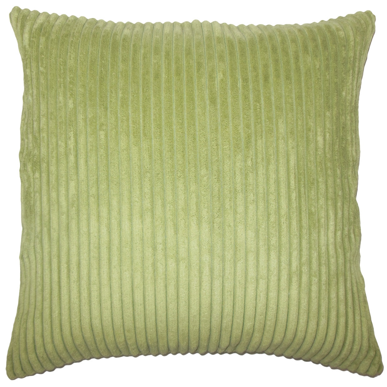 Calvine Solid 24-inch  Feather Throw Pillow - Avocado (24 x 24)