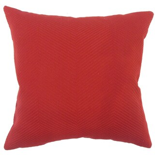 Carabella Solid 24-inch  Feather Throw Pillow - Red