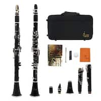 Black ABS Real Clarinet Wood Finish with Case