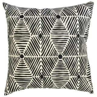 Iakovos Geometric 24-inch Down Feather Throw Pillow - Black