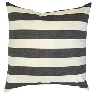 Tailyn Striped 24-inch Down Feather Throw Pillow - Black/White