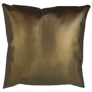 Acciai Solid 24-inch  Feather Throw Pillow - Brown