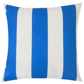 Kanha Striped 24-inch Down Feather Throw Pillow - Cobalt