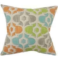 Bhayva Geometric 24-inch Down Feather Throw Pillow - Ridgeland