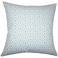 Abhinav Geometric 24-inch  Feather Throw Pillow - Twill