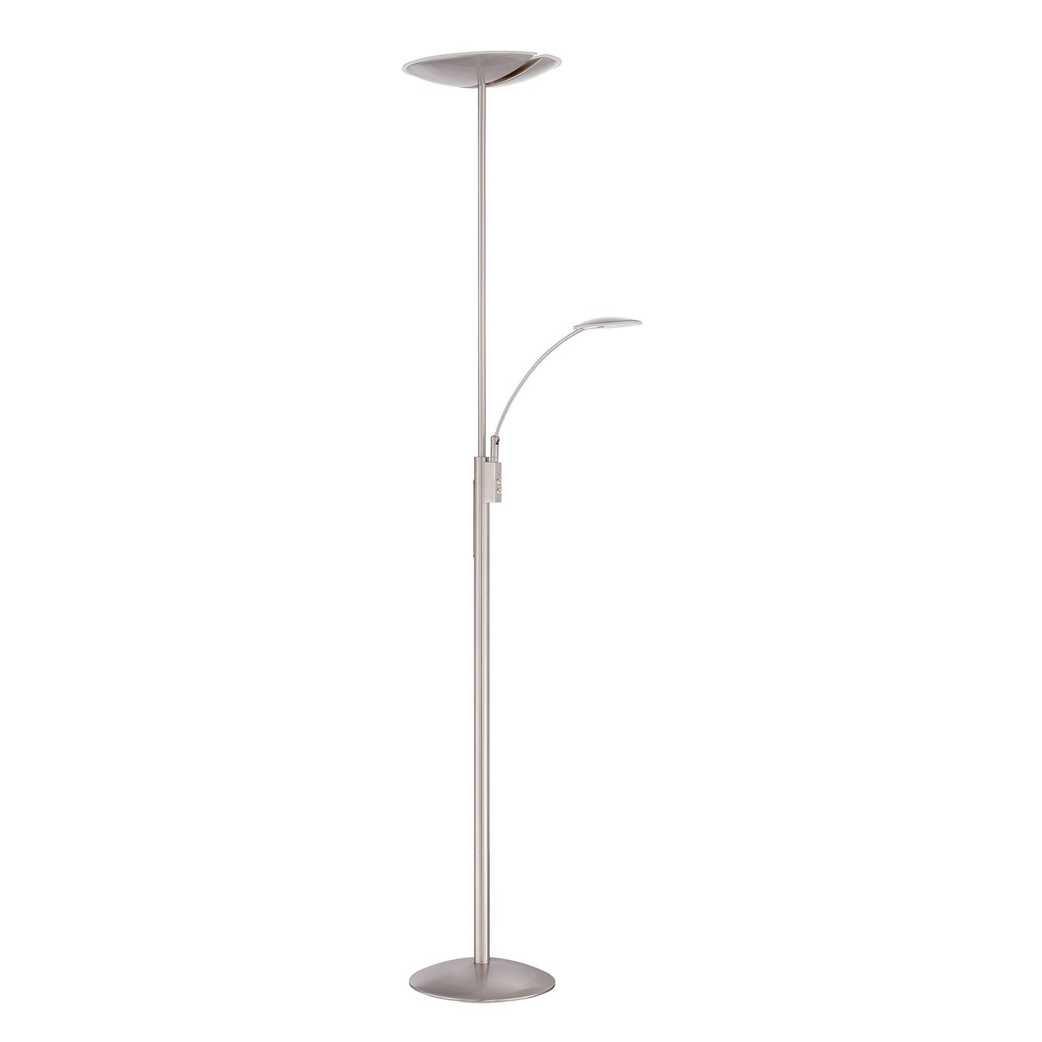 Shop Splitz Series Satin Nickel 72 Inch Led Torchiere Floor Lamp