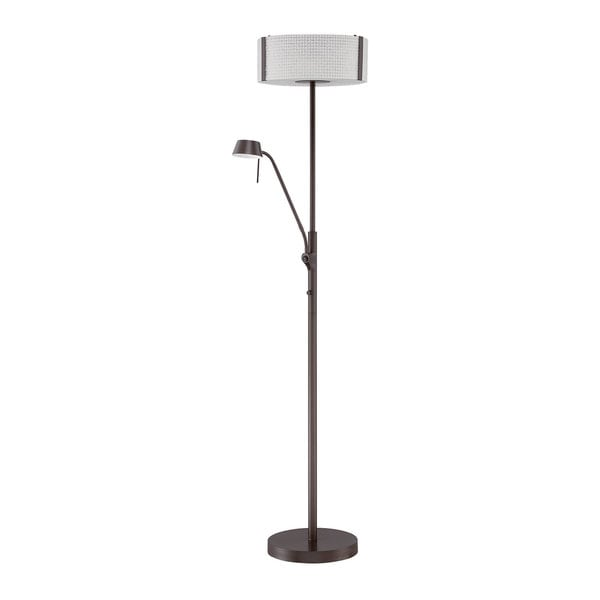 Glacier Series Floorchiere Oil Rubbed Bronze 70-inch Floor Lamp with Reading Light