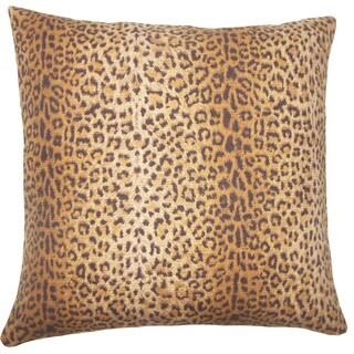 Achava Animal Print 24-inch Down Feather Throw Pillow - Mink