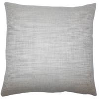 Daker Weave 24-inch  Feather Throw Pillow - Grey