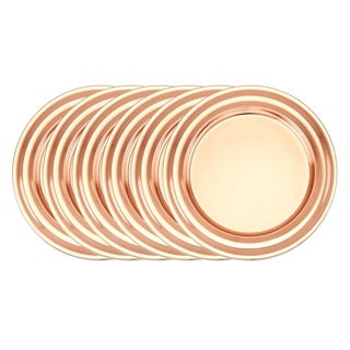 Old Dutch Décor 13-inch Copper Collar Rim Charger Plates (Set of 6)