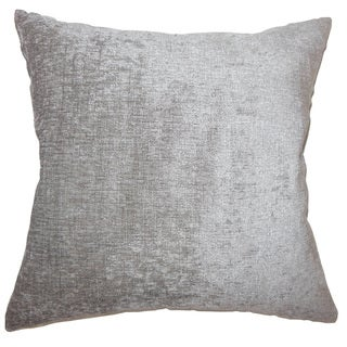 Gefion Solid 24-inch  Feather Throw Pillow - Silver