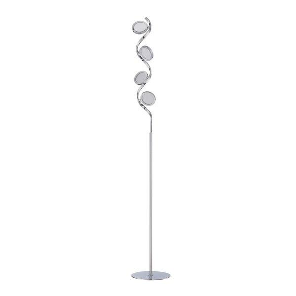 Milan Series Chrome 65-inch LED Floor Lamp