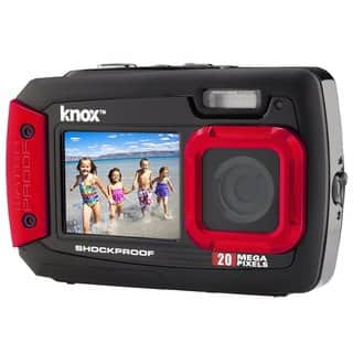Knox Dual-Screen 20MP Rugged Underwater Digital Camera with Video (Red)|https://ak1.ostkcdn.com/images/products/15639507/P22070430.jpg?impolicy=medium