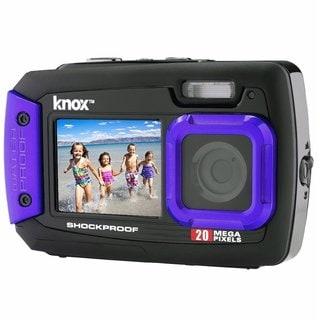 Knox Dual-Screen 20MP Rugged Underwater Digital Camera with Video (Purple)