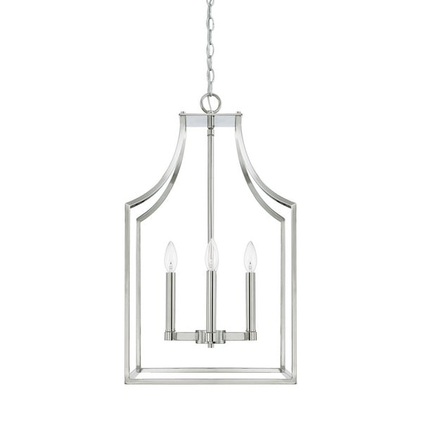 Capital Lighting Wright Collection 4-light Polished Nickel Foyer Pendant