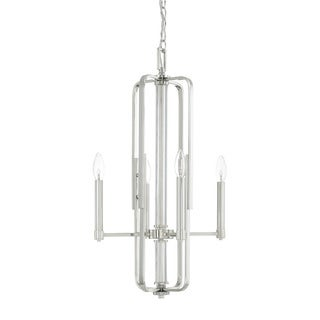 Capital Lighting Manhattan Collection 4-light Polished Nickel Foyer Pendant