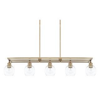 Capital Lighting Mid-Century Collection 5-light Aged Brass Island Fixture