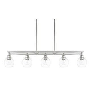 Capital Lighting Mid-Century Collection 5-light Polished Nickel Island Fixture
