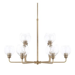 Capital Lighting Mid-Century Collection 10-light Aged Brass Chandelier