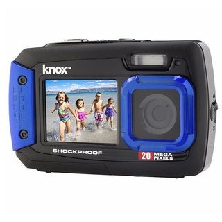 Knox Dual-Screen 20MP Rugged Underwater Digital Camera with Video (Blue)
