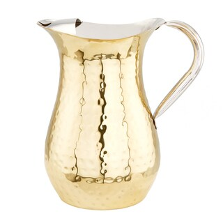 Old Dutch 1.5-quart Hammered Champagne Tone Water Pitcher