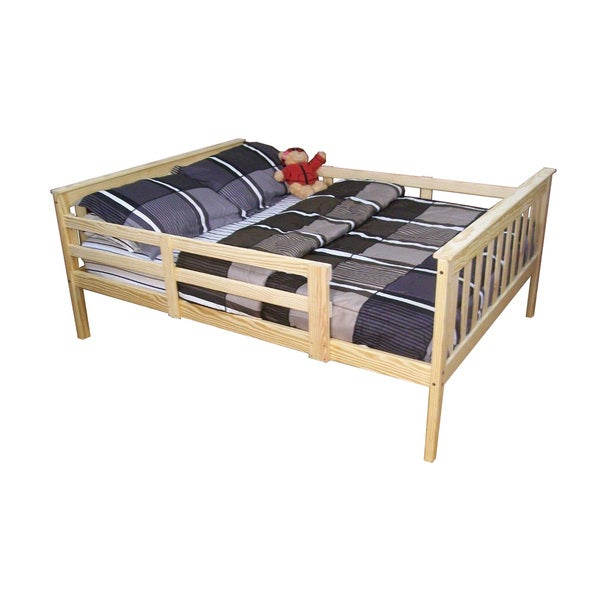 Shop Full Size Mission Bed W Safety Side Rails In Pine Free