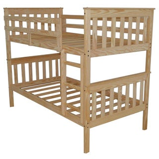 PINE MISSION STYLE FULL OVER FULL BUNK BED - Amish-made