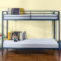 Priage Quick Lock Twin Over Twin Metal Bunk Bed, Navy