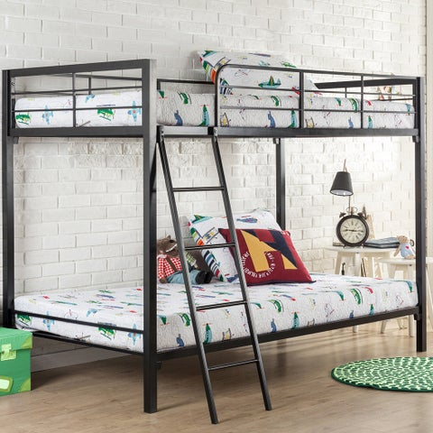 Priage Quick Lock Twin Over Twin Metal Bunk Bed
