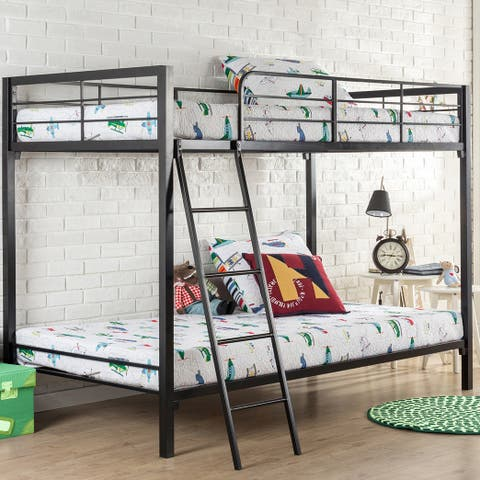 Priage by Zinus Quick Lock Twin Over Twin Metal Bunk Bed