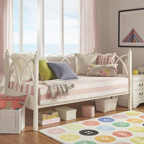 Faelyn Antique White Arched Metal Daybed by iNSPIRE Q Bold