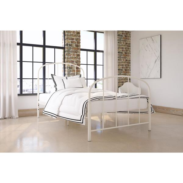 Shop DHP Lafayette White Metal Bed - Free Shipping Today - Overstock ...