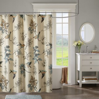 The Gray Barn Mission Creek Khaki Printed Cotton Shower Curtain