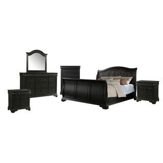 Picket House Furnishings Conley Charcoal Sleigh 6PC Set