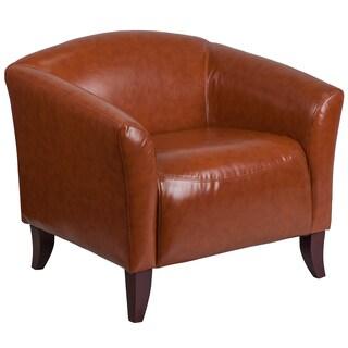 Allison Contemporary Cognac Leather Guest Chair