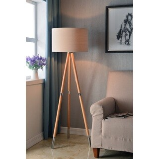 Scope Natural Wood Grain 60-inch Floor Lamp