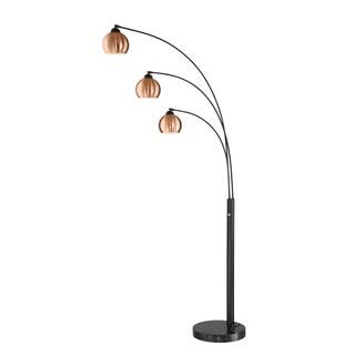 Lite Source 3-Light Braun Arch Lamp
