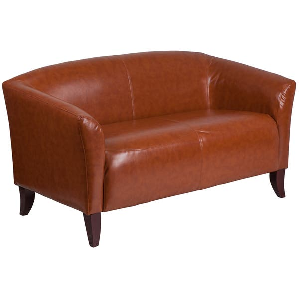Fine Shop Allison Contemporary Cognac Leather Loveseat On Sale Andrewgaddart Wooden Chair Designs For Living Room Andrewgaddartcom