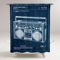 Oliver Gal 'Boombox 1978' Shower Curtain