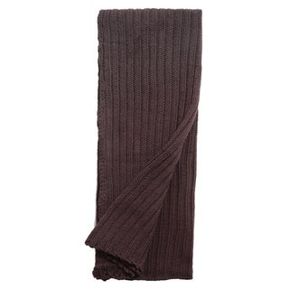 Samson Charcoal Knitted Throw