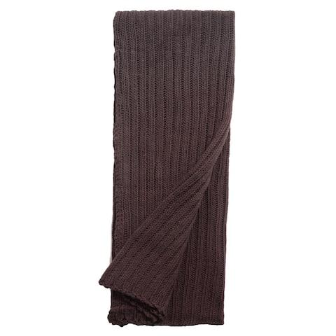 Samson Charcoal Knitted Throw