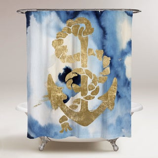 Oliver Gal 'Anchors Away.' Shower Curtain
