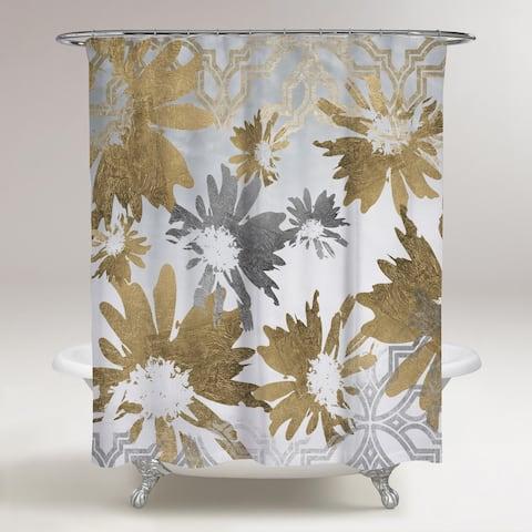 Oliver Gal 'Golden Garden' Shower Curtain