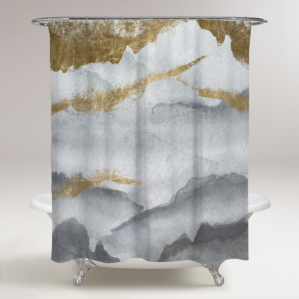 Oliver Gal 'Tibet Mountains' Shower Curtain