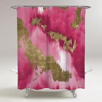 Oliver Gal 'Vivanti Gold' Shower Curtain