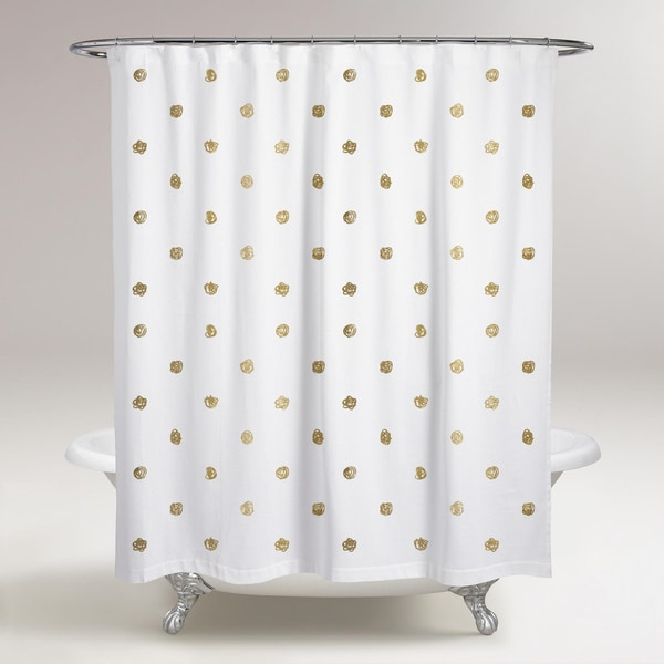 Oliver Gal X27 I See Polka Dots Shower Curtain