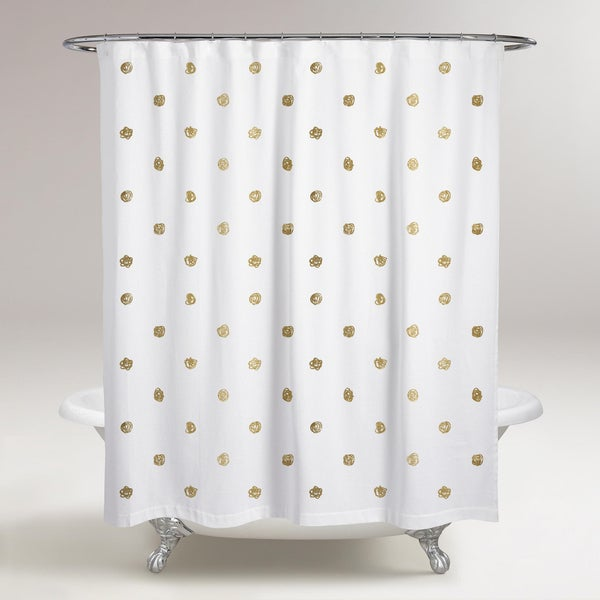 Oliver Gal 'I See Polka Dots' Shower Curtain
